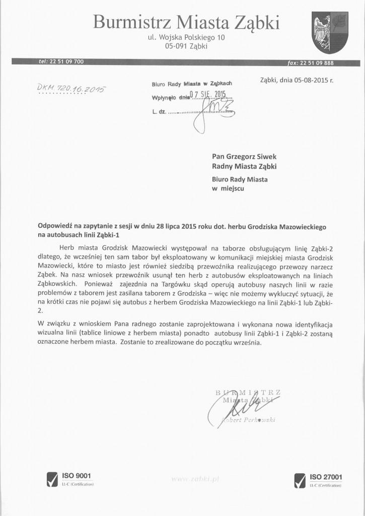 2015 08 11 odp na zapytanie dot herbu Grodziska_Mazow GS